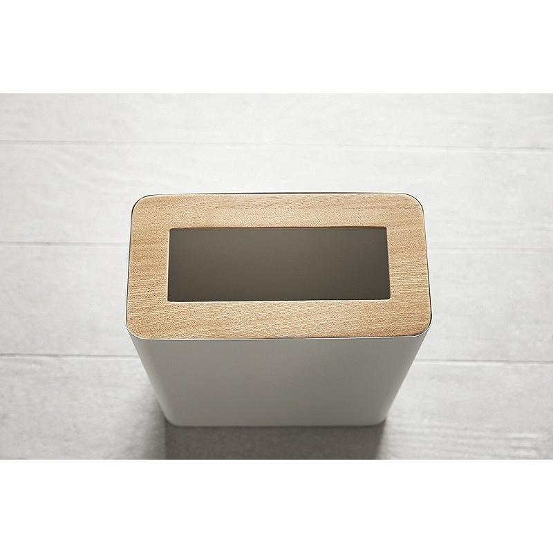 トラッシュカン リン 角型 ブラウン ナチュラル ゴミ袋が見えないゴミ箱 ダストボックス ごみ箱 分別 縦型 10リットル リビング オフィス 書斎 寝室 kagu-piena 10