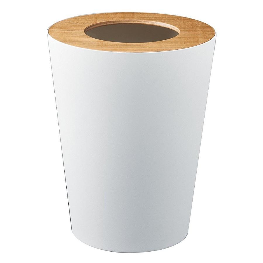 トラッシュカン リン 丸型 ブラウン ナチュラル ゴミ袋が見えないゴミ箱 ダストボックス ごみ箱 分別 縦型 7リットル kagu-piena 02