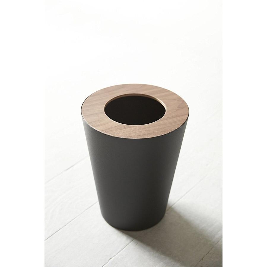 トラッシュカン リン 丸型 ブラウン ナチュラル ゴミ袋が見えないゴミ箱 ダストボックス ごみ箱 分別 縦型 7リットル kagu-piena 07