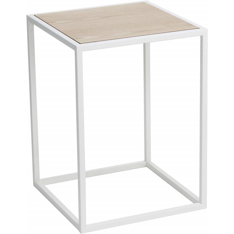 テーブル サイドテーブル タワー スクエア ホワイト ブラック 四角形 スタイリッシュ|kagu-piena