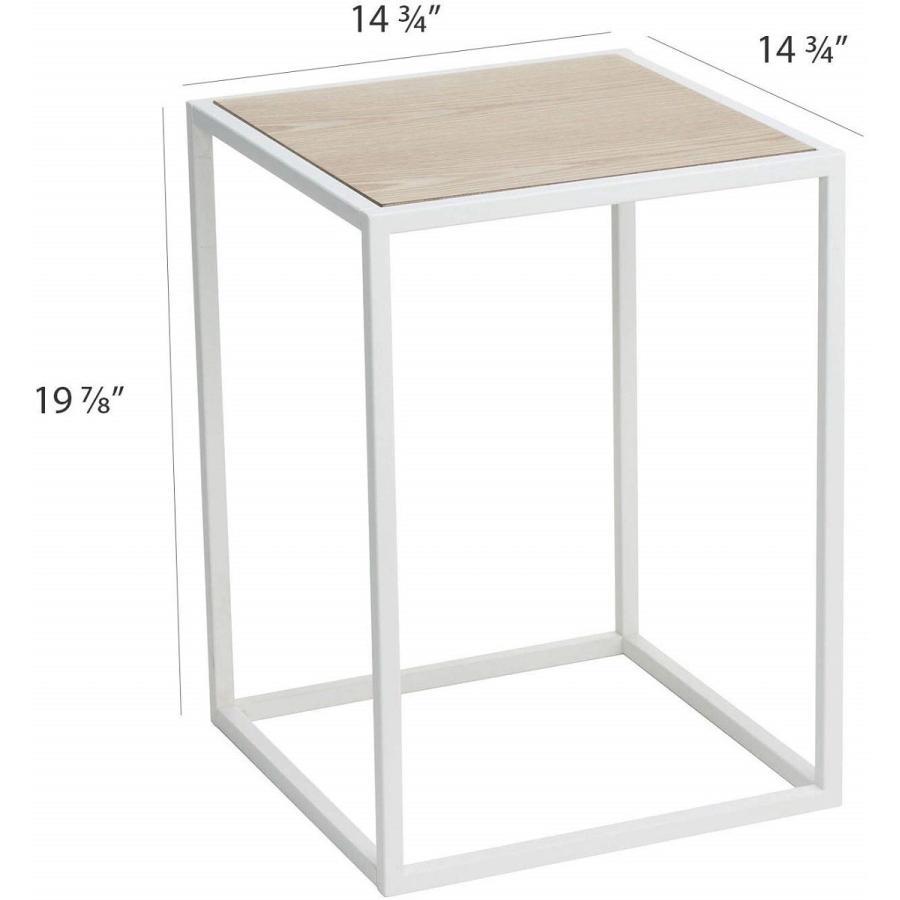 テーブル サイドテーブル タワー スクエア ホワイト ブラック 四角形 スタイリッシュ|kagu-piena|13