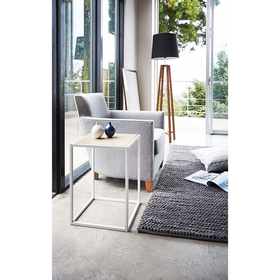 テーブル サイドテーブル タワー スクエア ホワイト ブラック 四角形 スタイリッシュ|kagu-piena|04