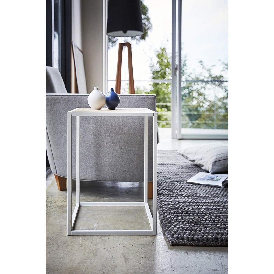 テーブル サイドテーブル タワー スクエア ホワイト ブラック 四角形 スタイリッシュ|kagu-piena|05