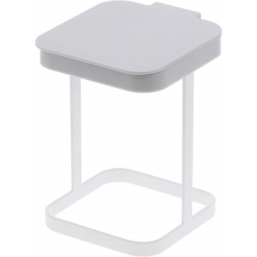 ポリ袋エコホルダー 蓋付きポリ袋エコホルダー プレート ホワイト ゴミ箱 キッチン雑貨|kagu-piena