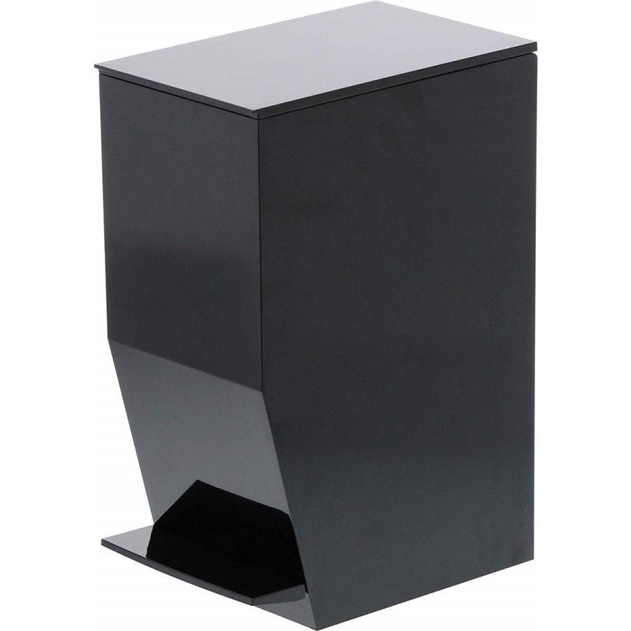 ゴミ箱 ペダル式トイレポット タワー ホワイト ブラック サニタリー 持ち手あり 袋止めあり|kagu-piena