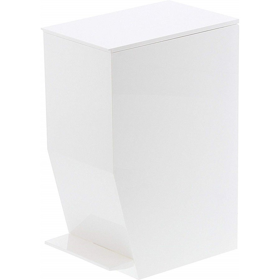 ゴミ箱 ペダル式トイレポット タワー ホワイト ブラック サニタリー 持ち手あり 袋止めあり|kagu-piena|02
