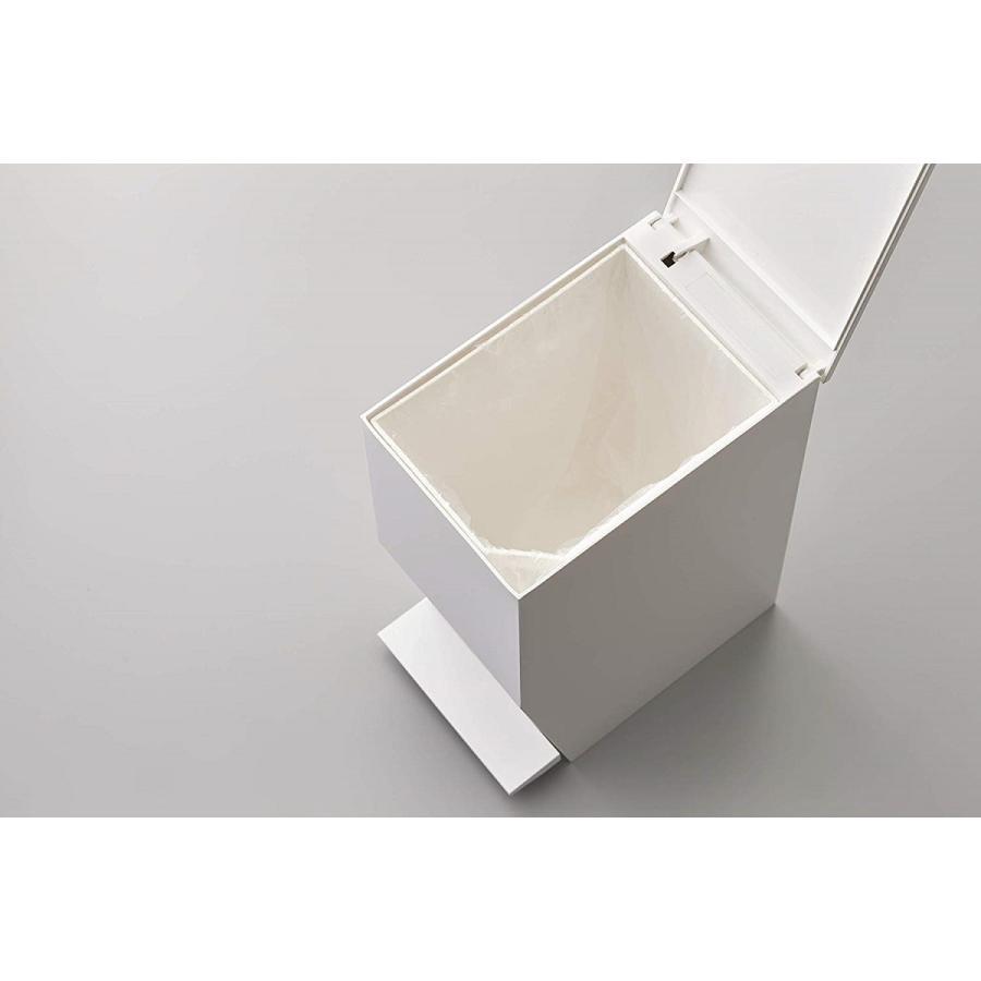 ゴミ箱 ペダル式トイレポット タワー ホワイト ブラック サニタリー 持ち手あり 袋止めあり|kagu-piena|11