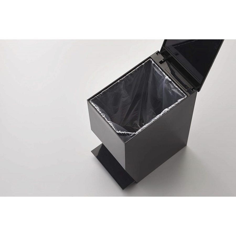 ゴミ箱 ペダル式トイレポット タワー ホワイト ブラック サニタリー 持ち手あり 袋止めあり|kagu-piena|12