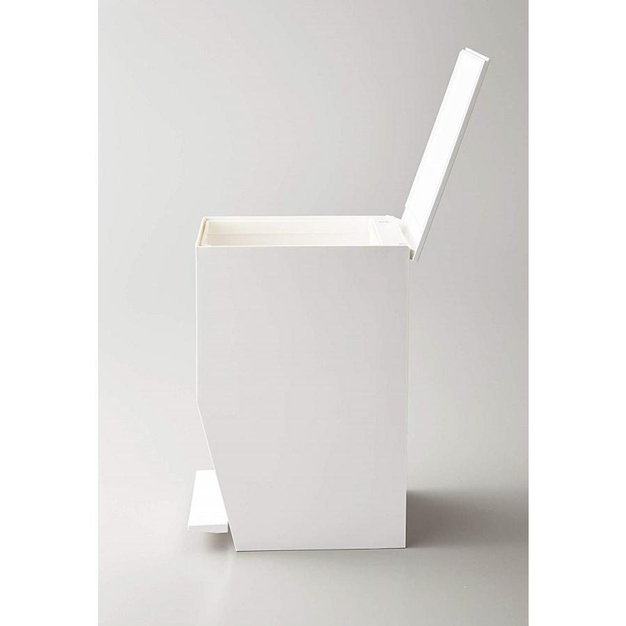 ゴミ箱 ペダル式トイレポット タワー ホワイト ブラック サニタリー 持ち手あり 袋止めあり|kagu-piena|14