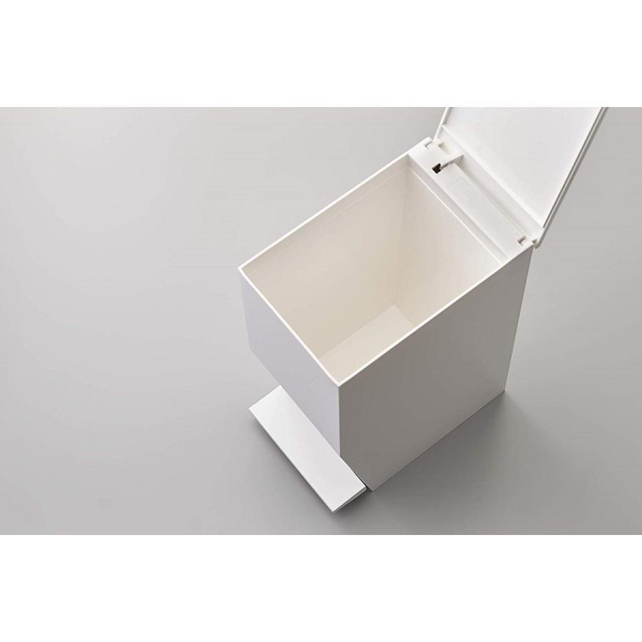 ゴミ箱 ペダル式トイレポット タワー ホワイト ブラック サニタリー 持ち手あり 袋止めあり|kagu-piena|09