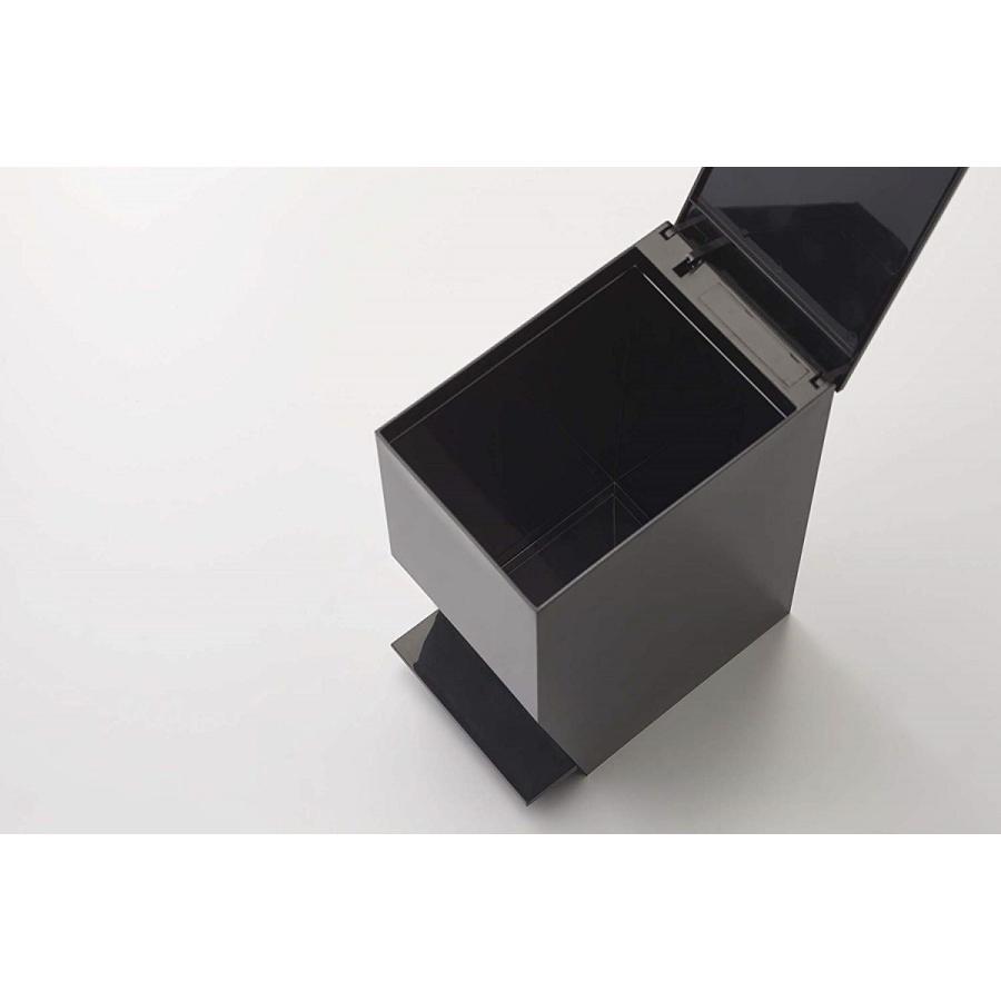 ゴミ箱 ペダル式トイレポット タワー ホワイト ブラック サニタリー 持ち手あり 袋止めあり|kagu-piena|10