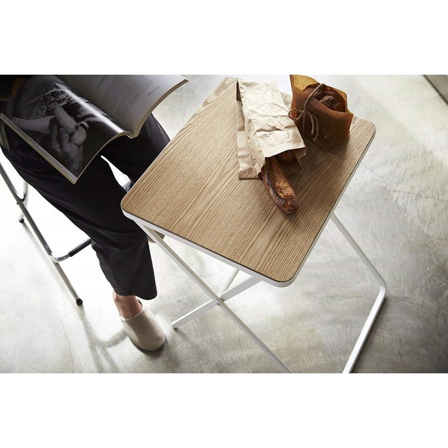 テーブル 折り畳みテーブル タワー ホワイト ブラック サイドテーブル インテリア台 ギフト|kagu-piena|11