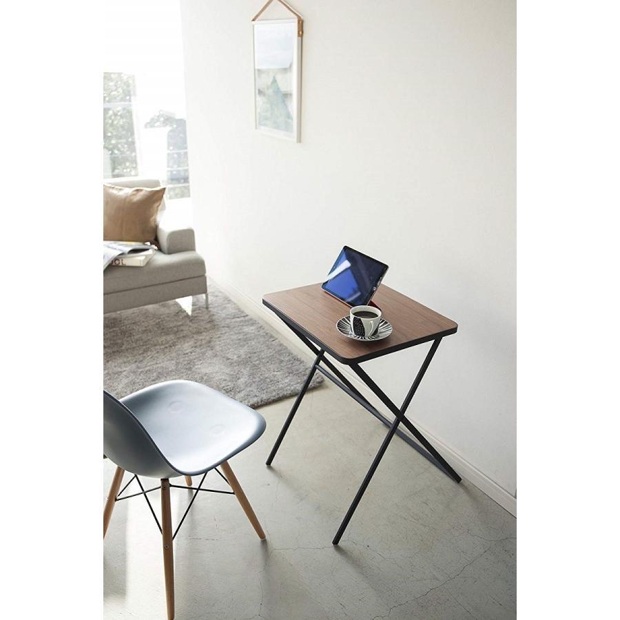 テーブル 折り畳みテーブル タワー ホワイト ブラック サイドテーブル インテリア台 ギフト|kagu-piena|03