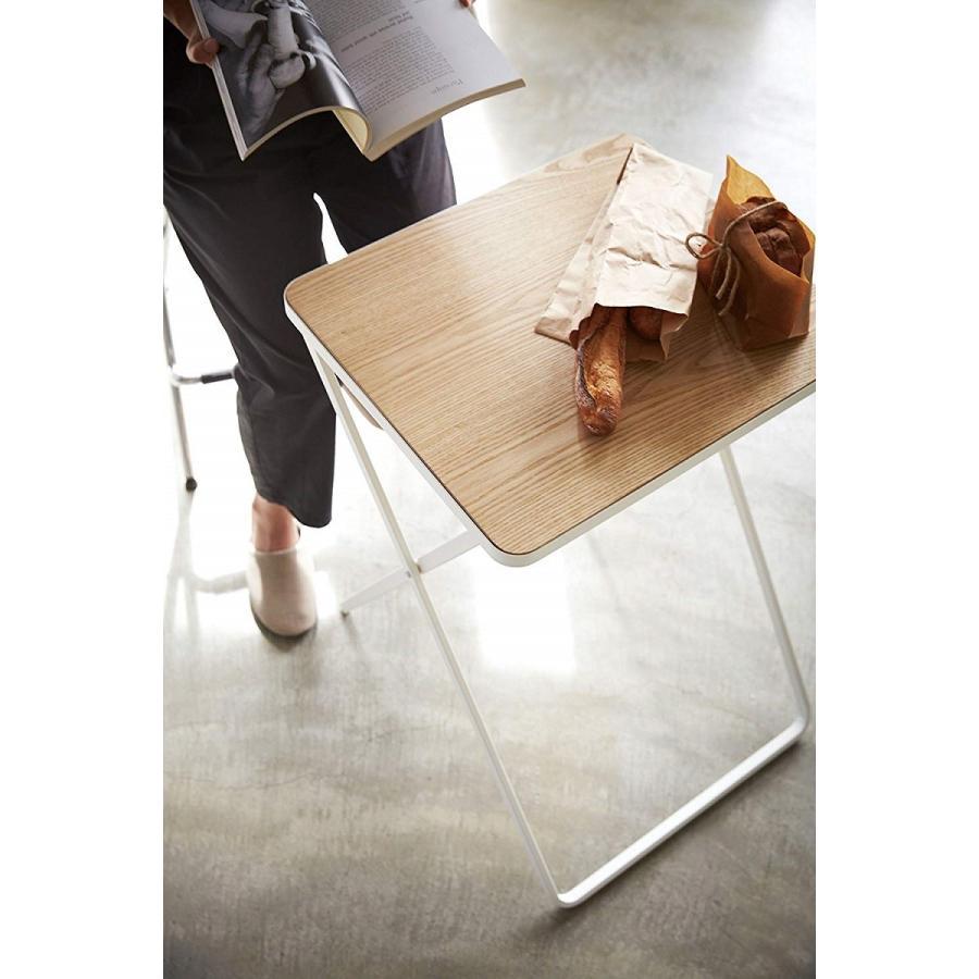 テーブル 折り畳みテーブル タワー ホワイト ブラック サイドテーブル インテリア台 ギフト|kagu-piena|05