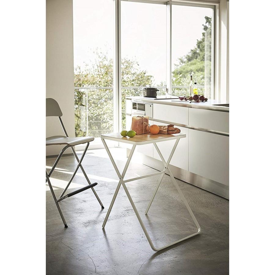 テーブル 折り畳みテーブル タワー ホワイト ブラック サイドテーブル インテリア台 ギフト|kagu-piena|09