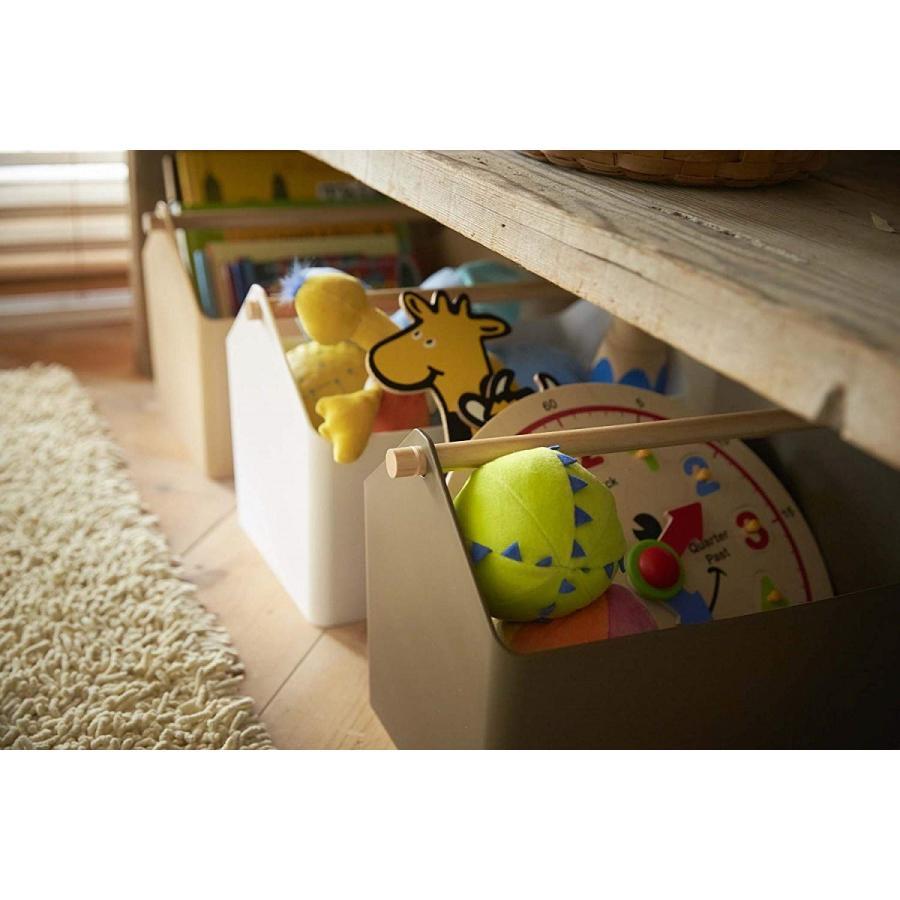 おもちゃ収納 収納ボックス ファボリ ホワイト ベージュ ブラウン ブルー おもちゃ箱 天然木|kagu-piena|16