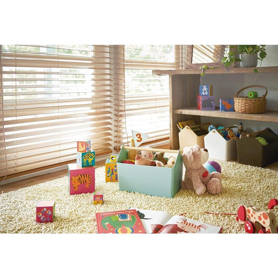 おもちゃ収納 収納ボックス ファボリ ホワイト ベージュ ブラウン ブルー おもちゃ箱 天然木|kagu-piena|05