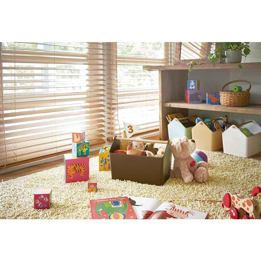おもちゃ収納 収納ボックス ファボリ ホワイト ベージュ ブラウン ブルー おもちゃ箱 天然木|kagu-piena|06