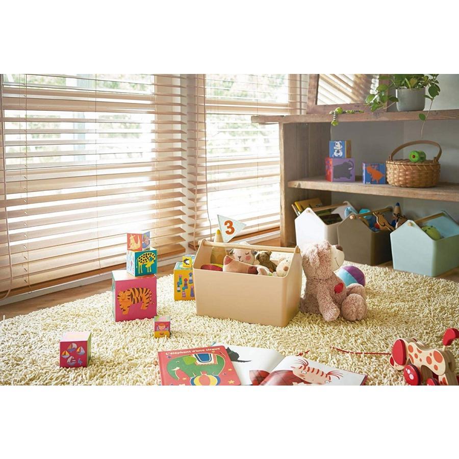 おもちゃ収納 収納ボックス ファボリ ホワイト ベージュ ブラウン ブルー おもちゃ箱 天然木|kagu-piena|07
