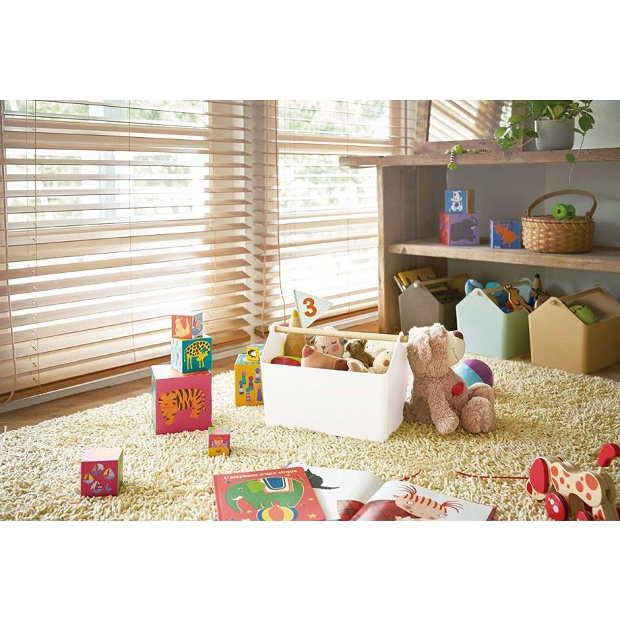 おもちゃ収納 収納ボックス ファボリ ホワイト ベージュ ブラウン ブルー おもちゃ箱 天然木|kagu-piena|08