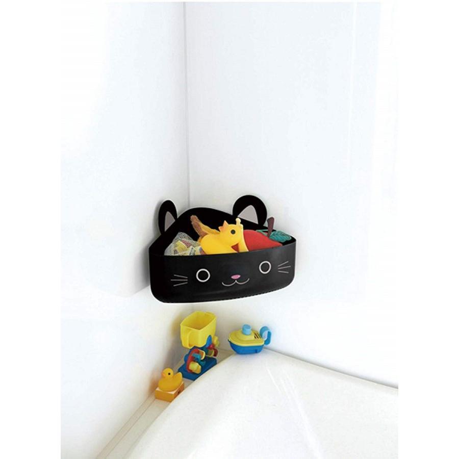 バス収納 おもちゃ入れ キッズ バスラック ネコ ボックス ラック 吸盤 アニマル キャット|kagu-piena|02
