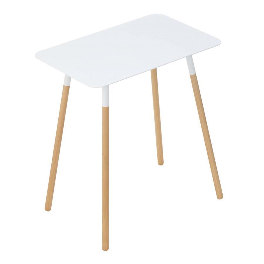 サイドテーブル 角型 ホワイト ブラック プレーン 家具 ソファーサイド ベットサイド|kagu-piena