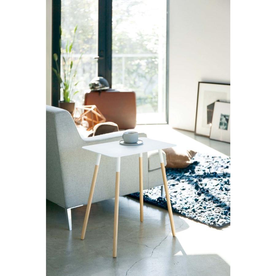 サイドテーブル 角型 ホワイト ブラック プレーン 家具 ソファーサイド ベットサイド|kagu-piena|11
