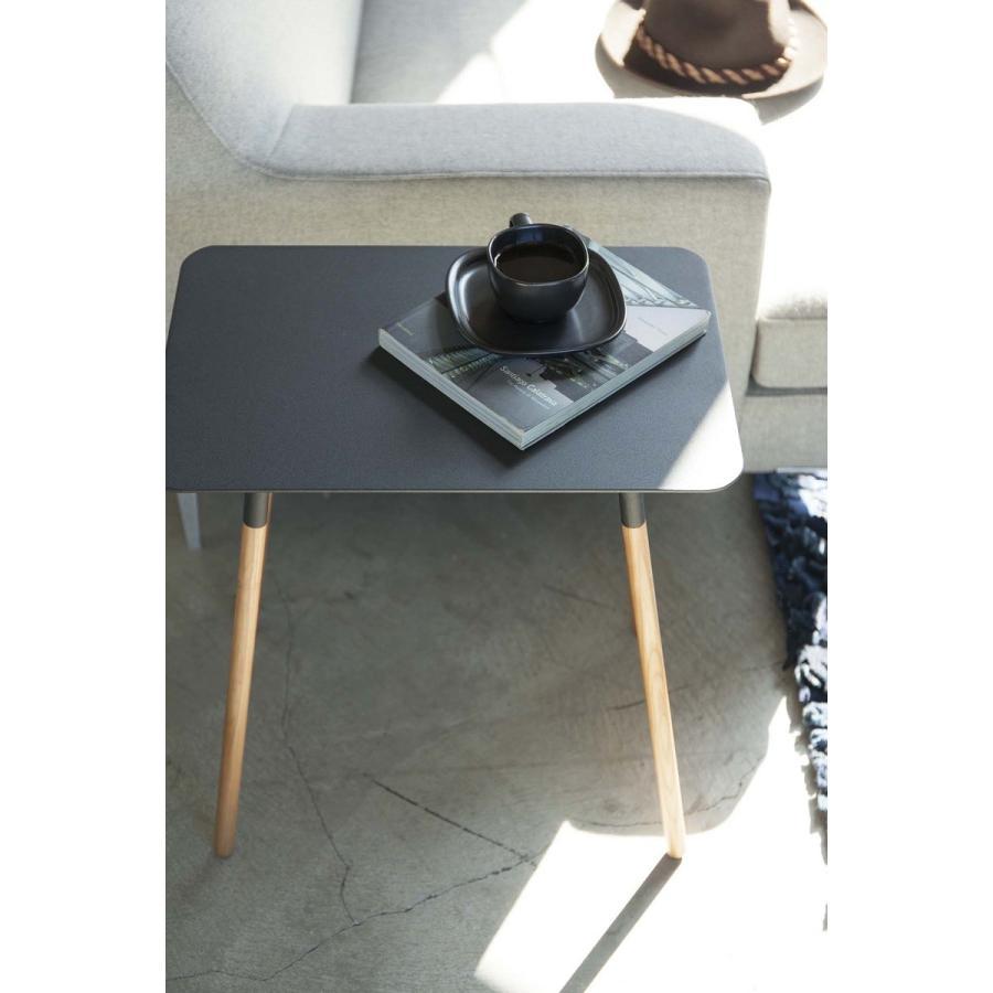 サイドテーブル 角型 ホワイト ブラック プレーン 家具 ソファーサイド ベットサイド|kagu-piena|12