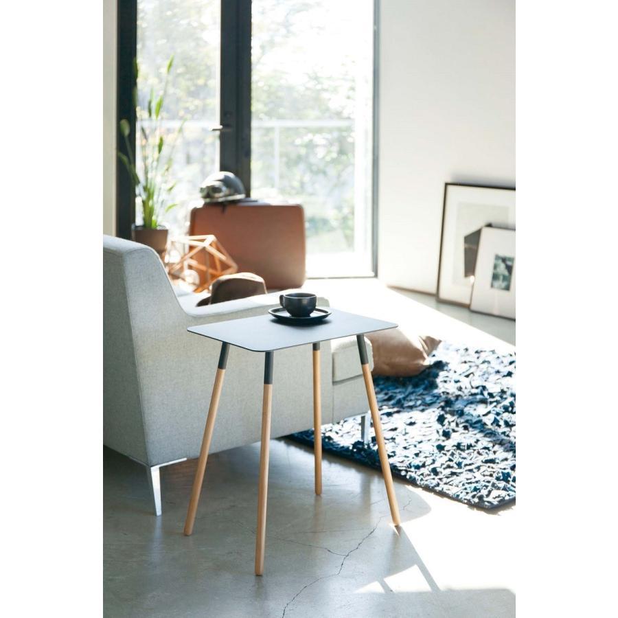 サイドテーブル 角型 ホワイト ブラック プレーン 家具 ソファーサイド ベットサイド|kagu-piena|03