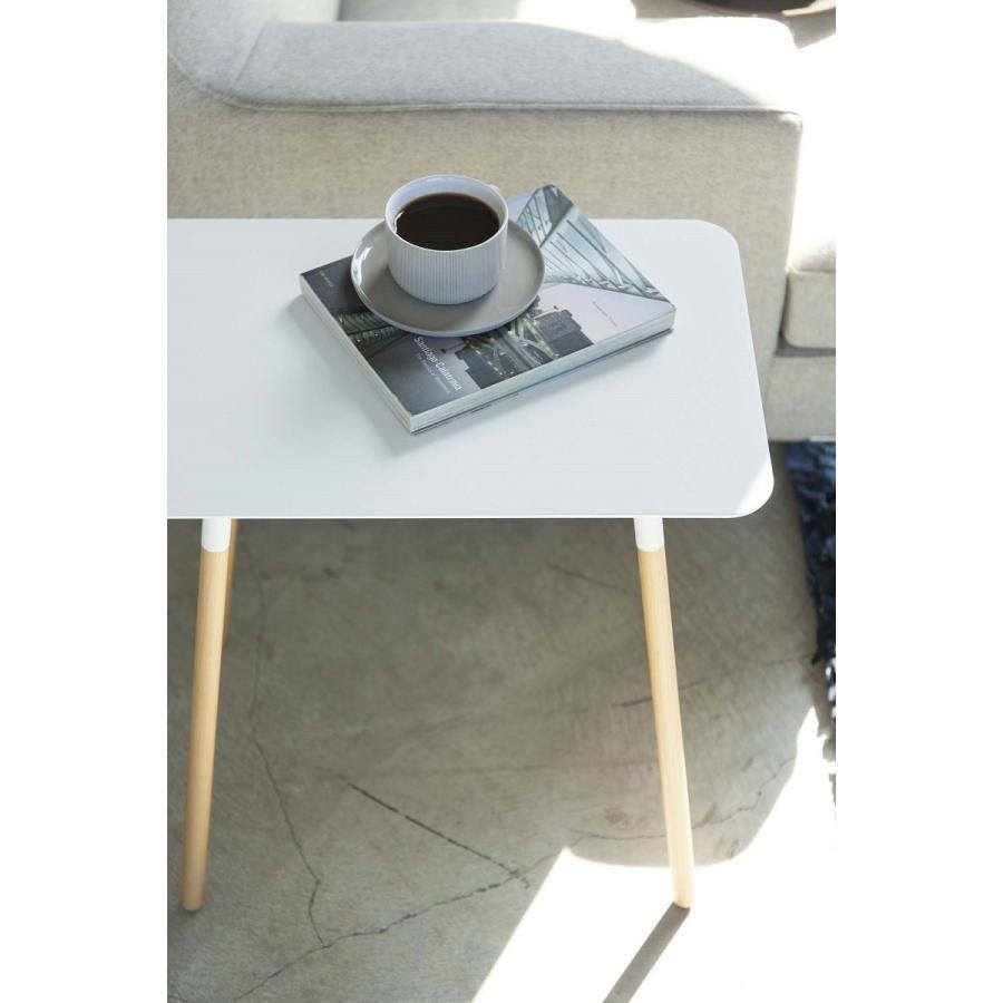 サイドテーブル 角型 ホワイト ブラック プレーン 家具 ソファーサイド ベットサイド|kagu-piena|04