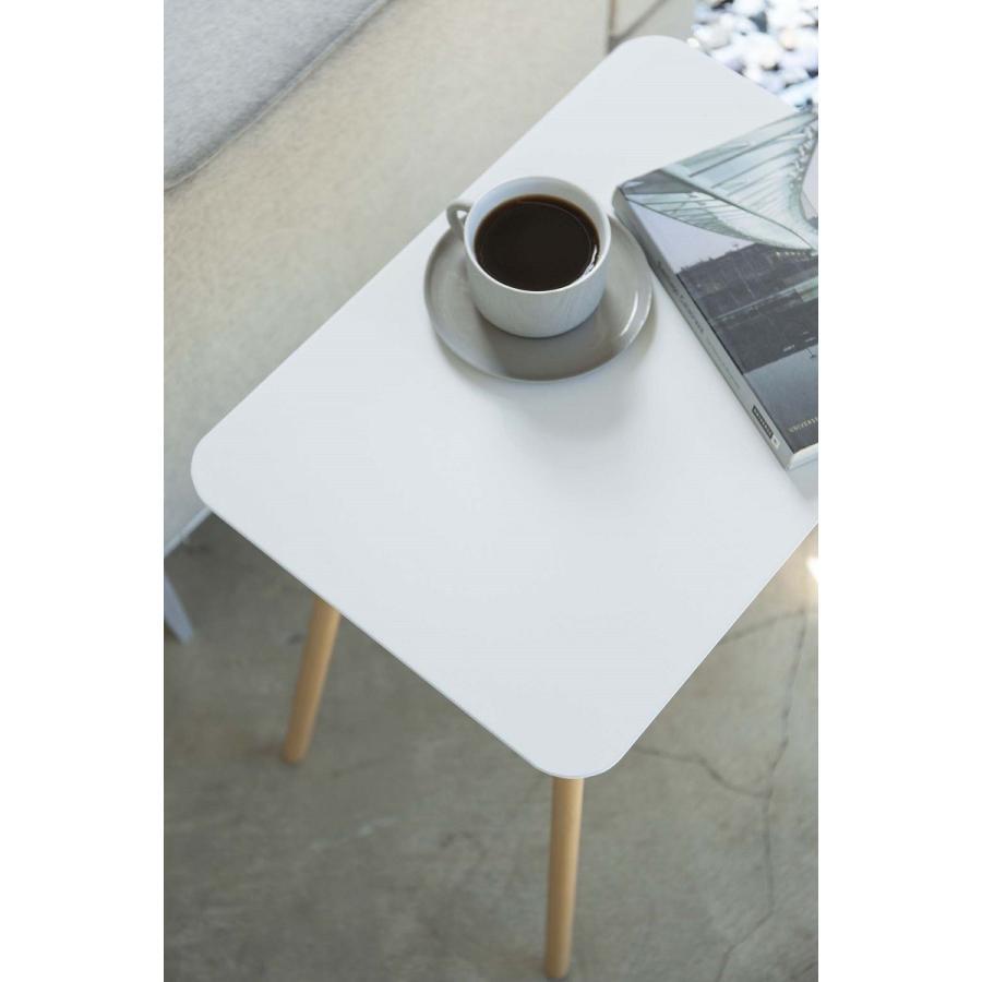 サイドテーブル 角型 ホワイト ブラック プレーン 家具 ソファーサイド ベットサイド|kagu-piena|05
