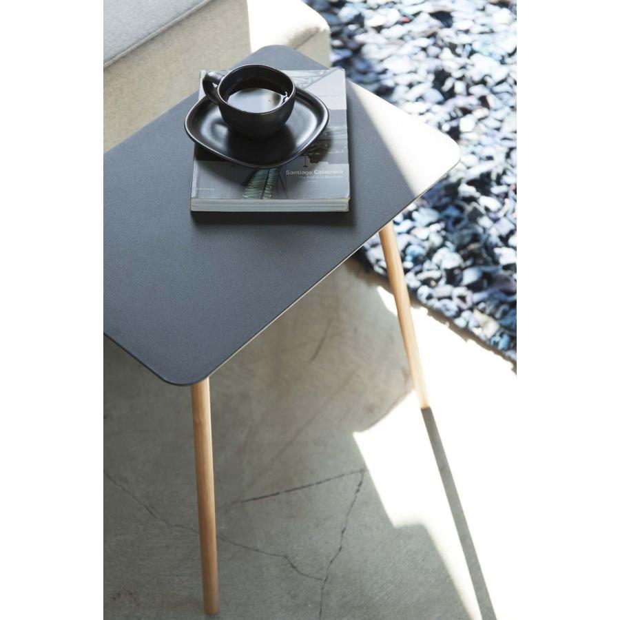 サイドテーブル 角型 ホワイト ブラック プレーン 家具 ソファーサイド ベットサイド|kagu-piena|06