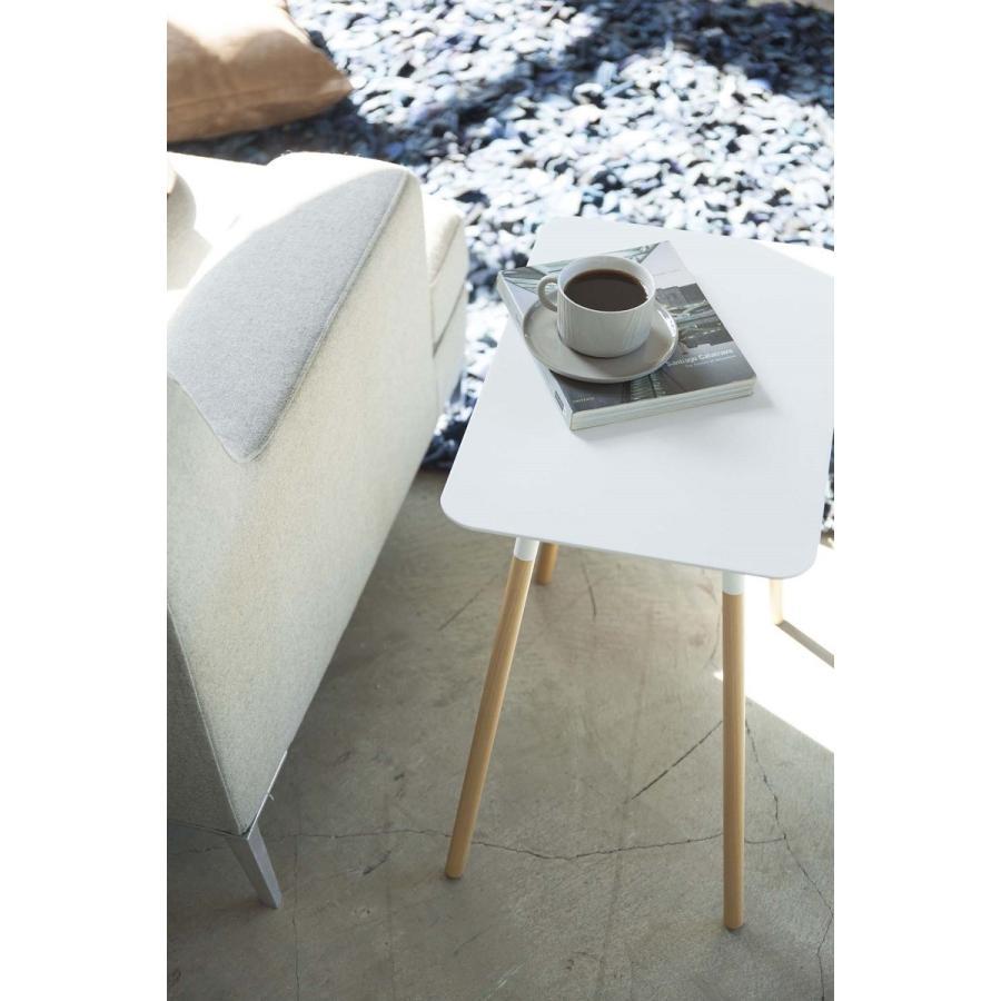 サイドテーブル 角型 ホワイト ブラック プレーン 家具 ソファーサイド ベットサイド|kagu-piena|07