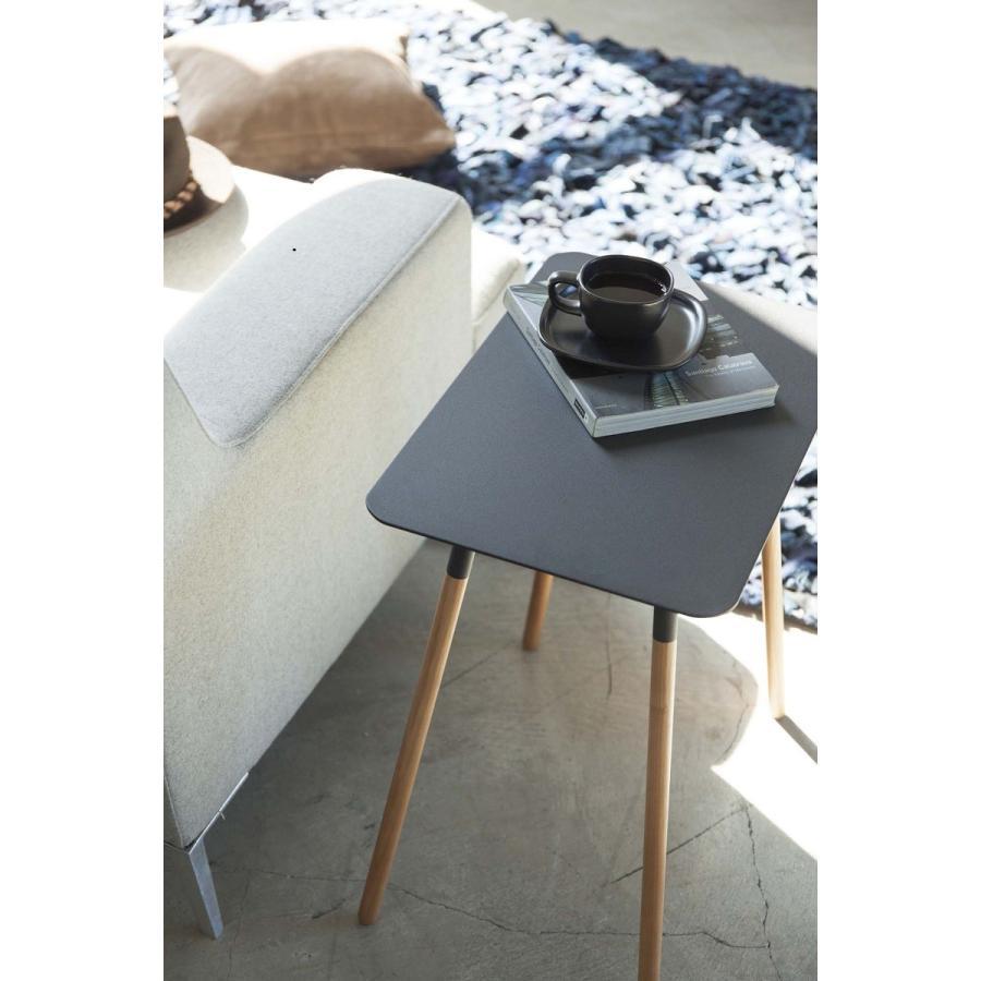 サイドテーブル 角型 ホワイト ブラック プレーン 家具 ソファーサイド ベットサイド|kagu-piena|08