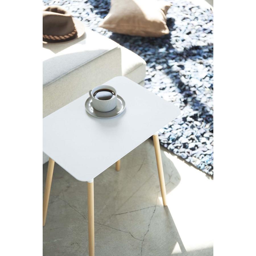 サイドテーブル 角型 ホワイト ブラック プレーン 家具 ソファーサイド ベットサイド|kagu-piena|09