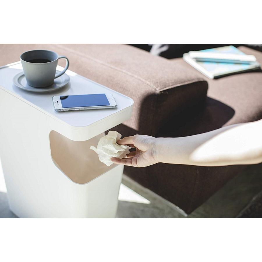 ゴミ箱 サイドテーブル ナイトテーブル ダストボックス & タワー ホワイト ブラック 袋止め kagu-piena 11