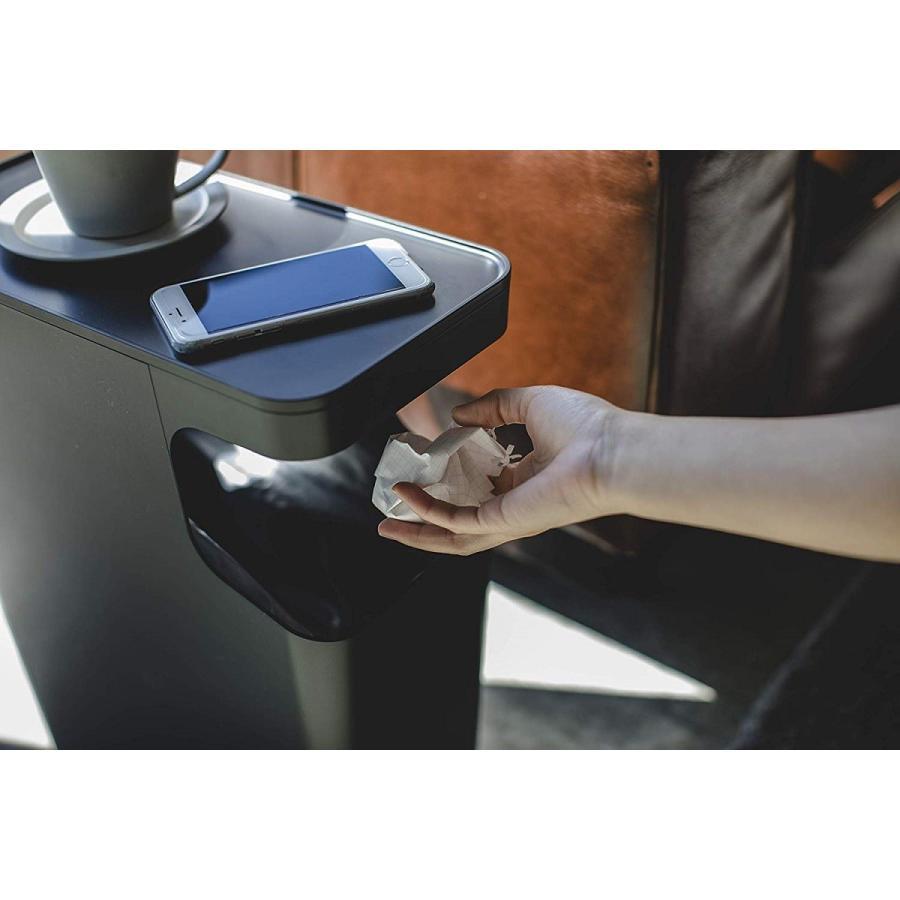 ゴミ箱 サイドテーブル ナイトテーブル ダストボックス & タワー ホワイト ブラック 袋止め kagu-piena 12