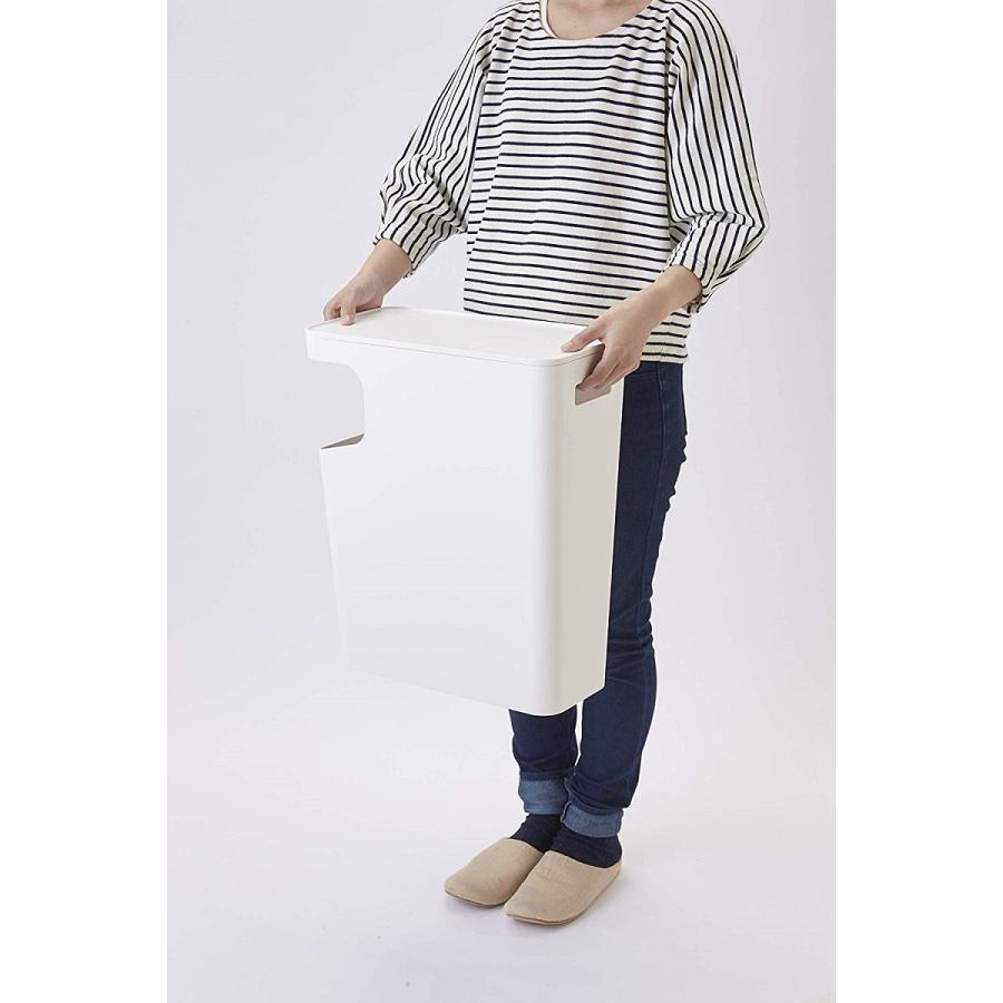 ゴミ箱 サイドテーブル ナイトテーブル ダストボックス & タワー ホワイト ブラック 袋止め kagu-piena 13