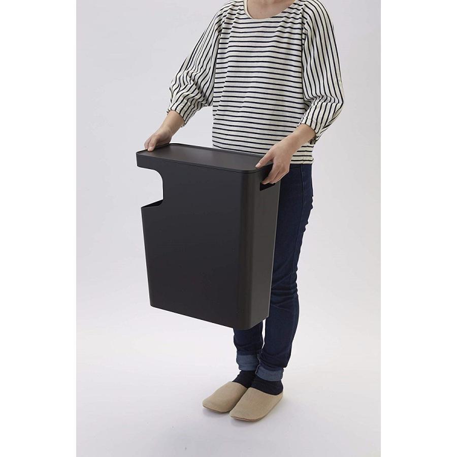 ゴミ箱 サイドテーブル ナイトテーブル ダストボックス & タワー ホワイト ブラック 袋止め kagu-piena 14