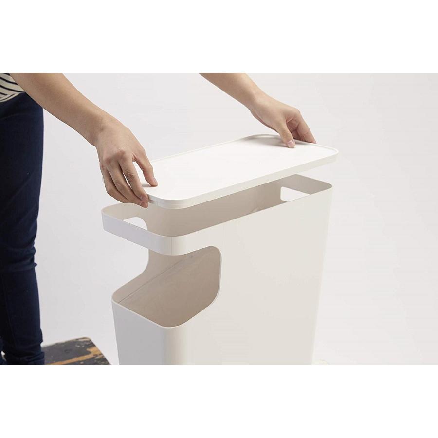 ゴミ箱 サイドテーブル ナイトテーブル ダストボックス & タワー ホワイト ブラック 袋止め kagu-piena 15