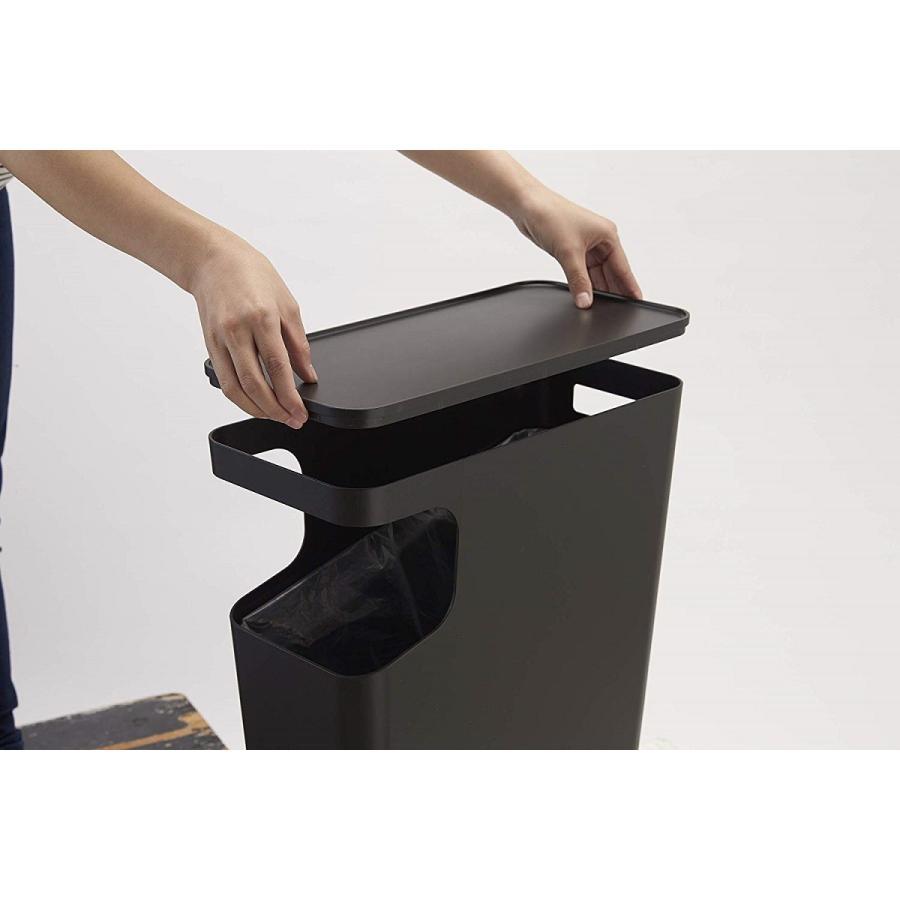ゴミ箱 サイドテーブル ナイトテーブル ダストボックス & タワー ホワイト ブラック 袋止め kagu-piena 16