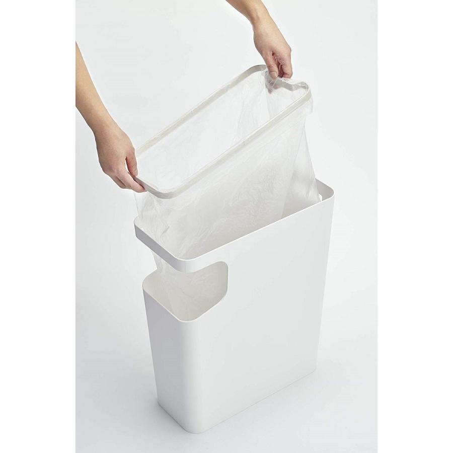 ゴミ箱 サイドテーブル ナイトテーブル ダストボックス & タワー ホワイト ブラック 袋止め kagu-piena 17