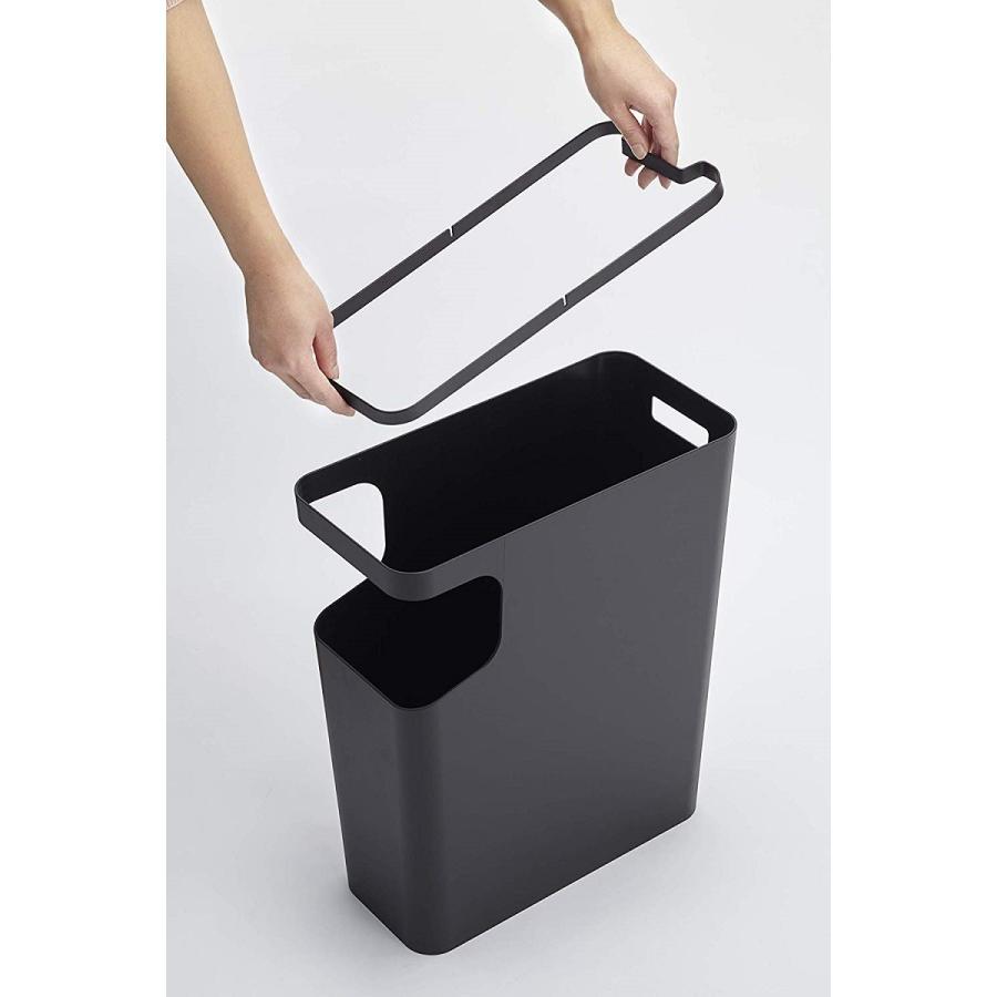 ゴミ箱 サイドテーブル ナイトテーブル ダストボックス & タワー ホワイト ブラック 袋止め kagu-piena 18
