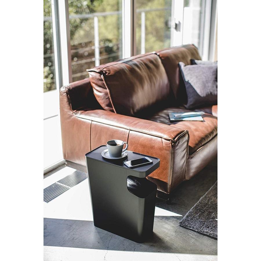 ゴミ箱 サイドテーブル ナイトテーブル ダストボックス & タワー ホワイト ブラック 袋止め kagu-piena 19