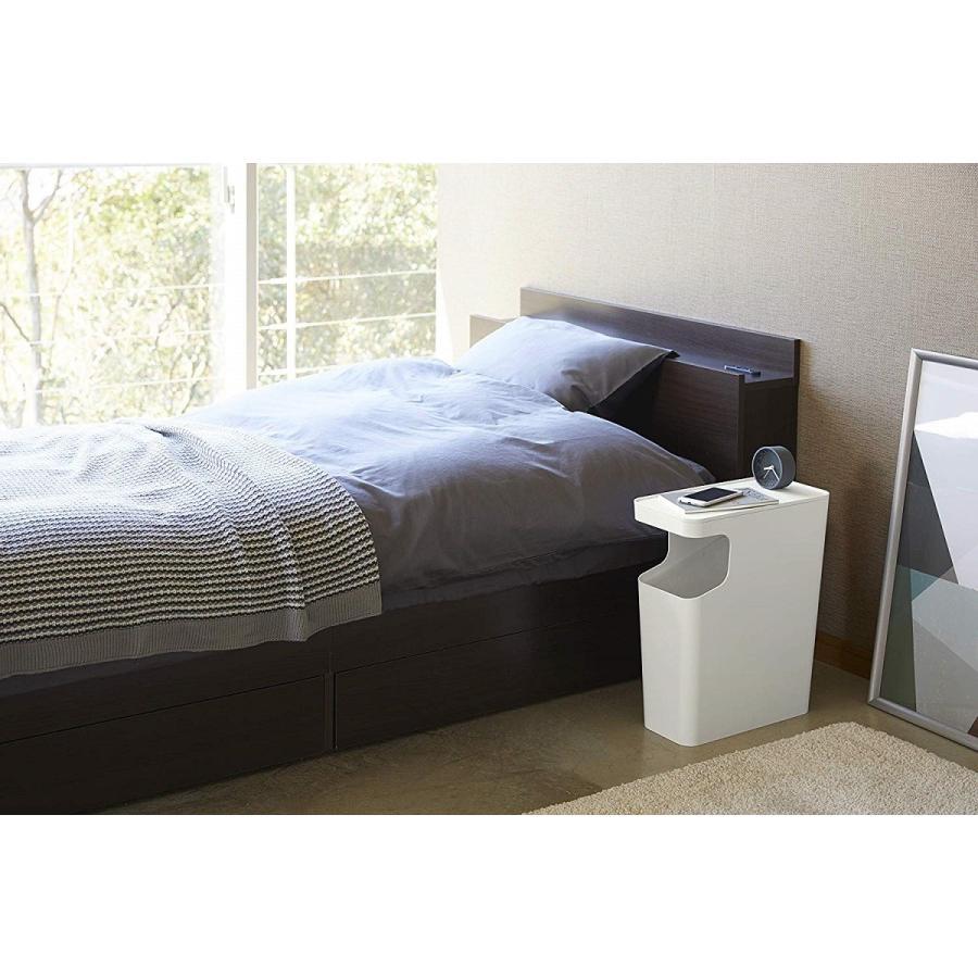 ゴミ箱 サイドテーブル ナイトテーブル ダストボックス & タワー ホワイト ブラック 袋止め kagu-piena 20