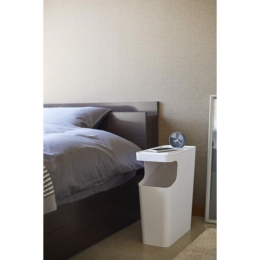 ゴミ箱 サイドテーブル ナイトテーブル ダストボックス & タワー ホワイト ブラック 袋止め kagu-piena 05