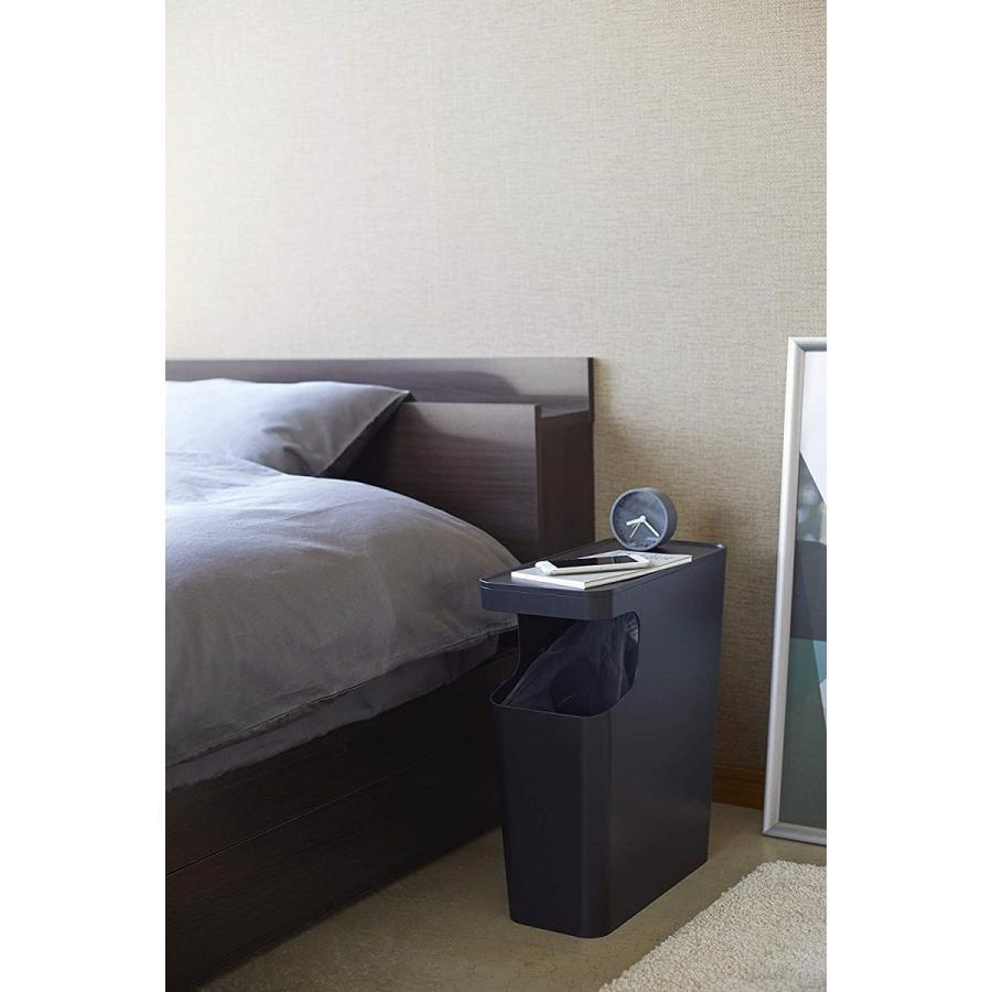 ゴミ箱 サイドテーブル ナイトテーブル ダストボックス & タワー ホワイト ブラック 袋止め kagu-piena 06