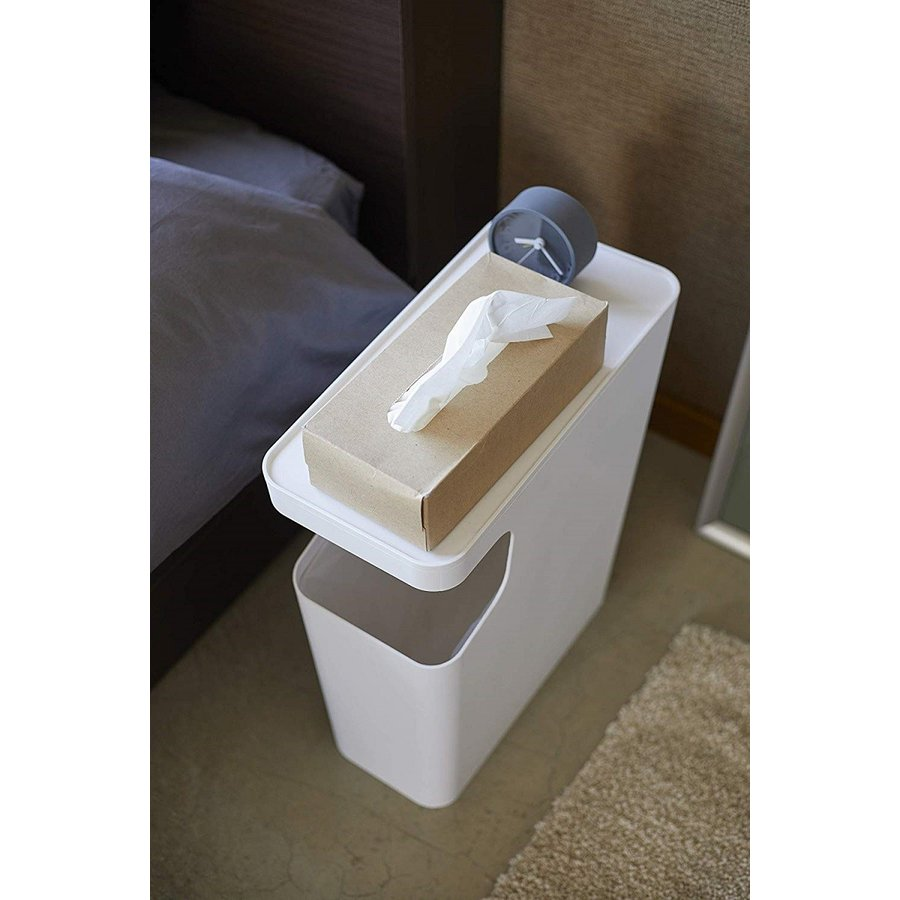 ゴミ箱 サイドテーブル ナイトテーブル ダストボックス & タワー ホワイト ブラック 袋止め kagu-piena 07
