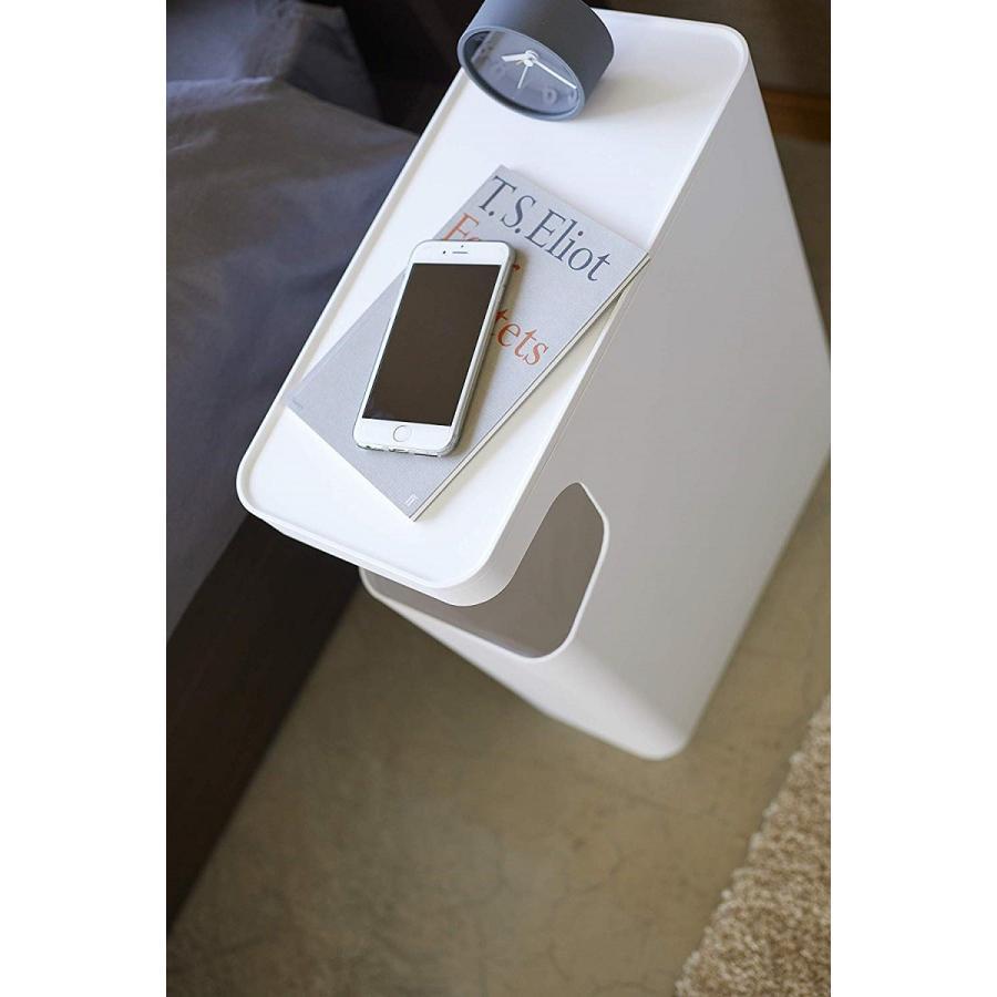 ゴミ箱 サイドテーブル ナイトテーブル ダストボックス & タワー ホワイト ブラック 袋止め kagu-piena 09