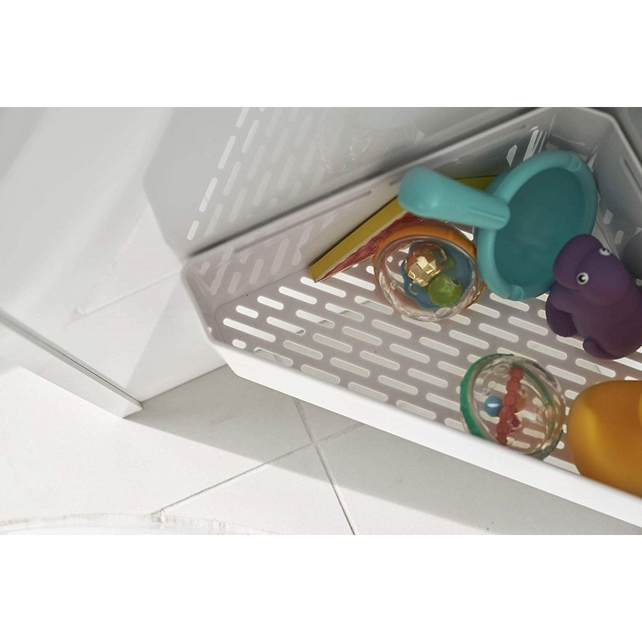 マグネット お風呂 おもちゃラック コーナー ホワイト ブラック タワー 収納|kagu-piena|09